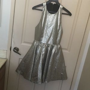Alice + Olivia Dresses - Alice and Olivia metallic gold Tevin dress